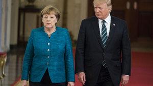 Donald Trump, Beyaz Saray'da Merkel'i ağırladı