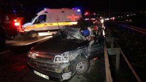 TEM otoyolunda feci kaza: 1 ölü, 1 ağır yaralı