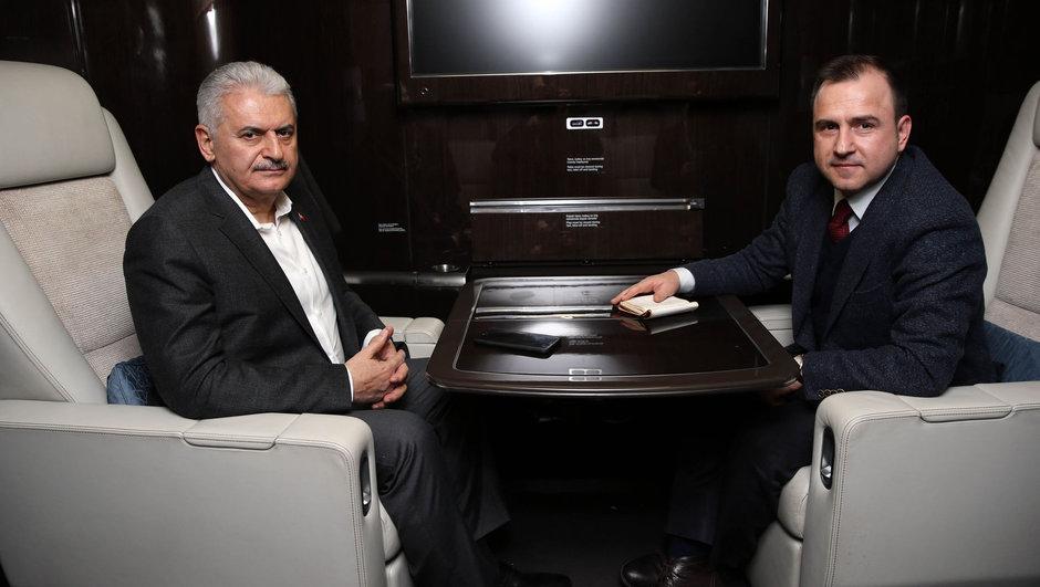 Başbakan Binali Yıldırım Habertürk Gazetesi Selçuk Tepeli