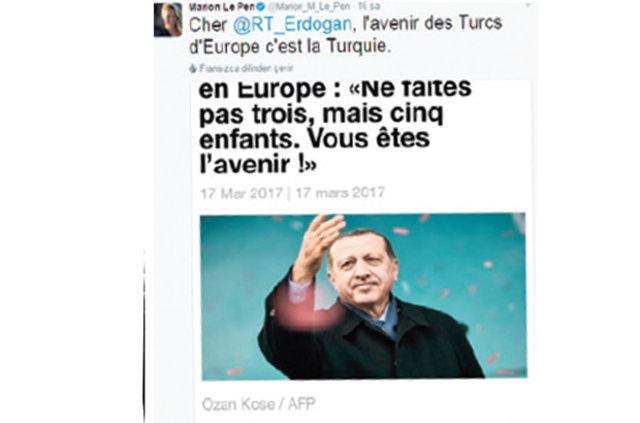 Marion Marechal- Le Pen Avrupa'daki Türklere 'Gidin' dedi!