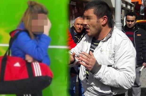 Bolu'da üniversite öğrencisini sözlü taciz eden şahıs linç ediliyordu