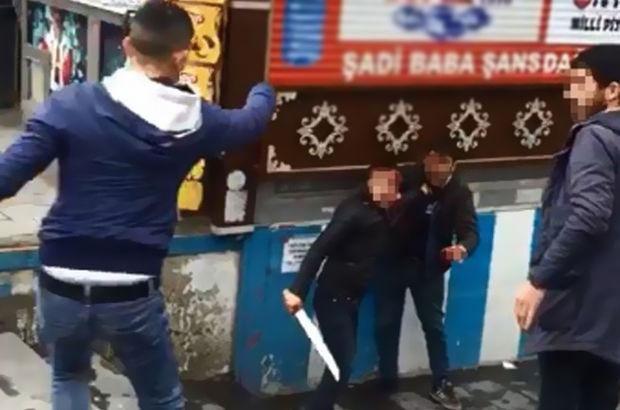 Erzurum'da dehşet anları kamerada