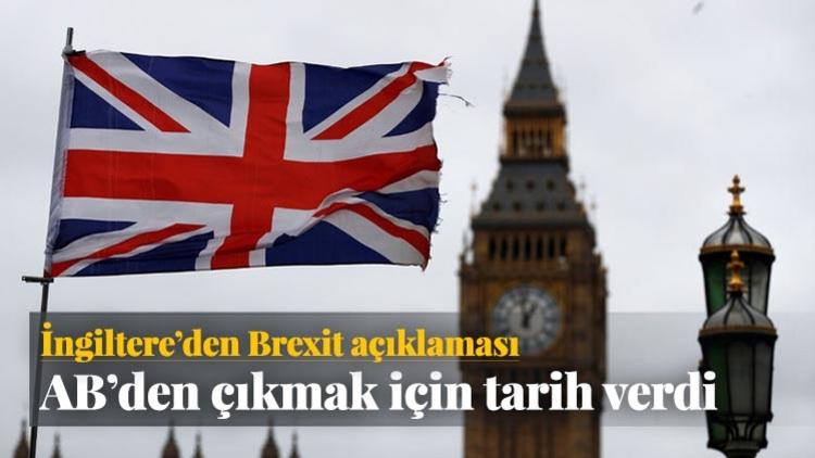 İngiltere'nin Avrupa Birliği'nden ayrılma (Brexit) sürecini başlatacak 50. maddeyi 29 Mart'ta resmen işleteceği açıklandı.