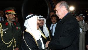 Kuveyt Emiri el Sabah Ankara'ya geldi