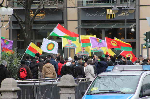 Hollanda terör örgütü PKK eylem