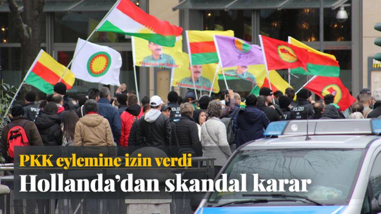 Türkiye ile toplantı krizi yaşayan Hollanda'da terör örgütü PKK'ya gösteri izni verildi.