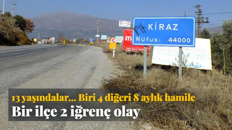 İzmir Kiraz'da 4 aylık hamile 13 yaşındaki T.K. ile 8 aylık hamile yine 13 yaşındaki M.A.'ya cinsel istismarda bulunan zanlılar, yapılacak DNA testiyle belirlenecek.