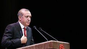 Erdoğan: Karşımıza maskeyle çıkanlara haydut muamelesi yapacağız