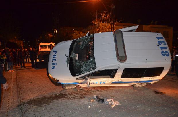 Polis aracıyla kamyonet çarpıştı: 3 polis yaralı
