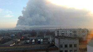 Ukrayna'da cephanelikte korkutan yangın
