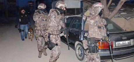 Konya'da 500 polisle uyuşturucu operasyonu