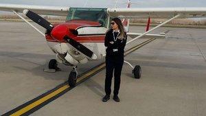 Samsun'da eğitim uçağı piste inerken düştü