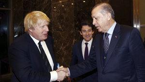 Cumhurbaşkanı Erdoğan, İngiliz Bakan Johnson'u kabul etti