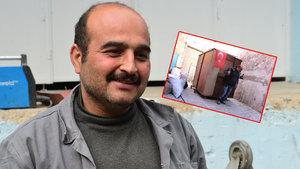 Gardıropta yaşayan 5 kişilik ailenin babası işe yerleştirildi