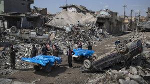 Irak ordusu: Enkaz altından 61 cansız beden çıkardık