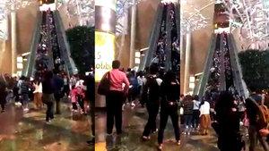 Yürüyen merdiven ters yöne hareket etti! 18 kişi yaralandı