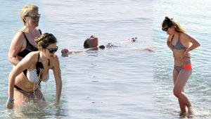 Sıcak havadan bunalan yerli, yabancı turistler soluğu sahilde aldı