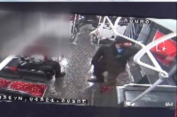 Otobüste Türk bayrağına çirkin saldırı!