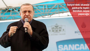 Cumhurbaşkanı'ndan Avrupa'daki o pankarta sert tepki