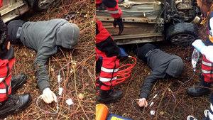 Bartın'da araç altında sıkışan sürücü 9 saat sonra kurtarıldı