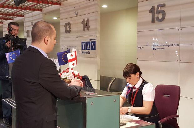 Gürcistan'ın AB'ye vizesiz seyahati başladı