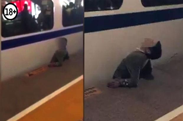 Çin'de tren ile platform arasına sıkışan adam hayatını kaybetti