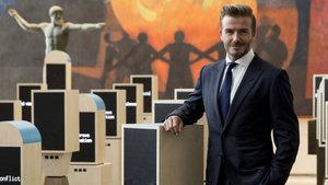 David Beckham film için bu hale geldi