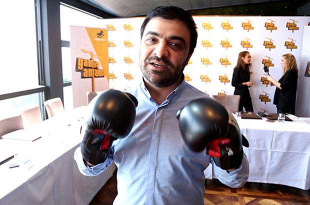 Azeri oyuncudan Şahan Gökbakar'a boks eldivenli çağrı
