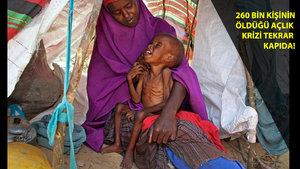 Somali'de her gün 3 bin kişi yemek ve su bulma umuduyla evini terk ediyor!