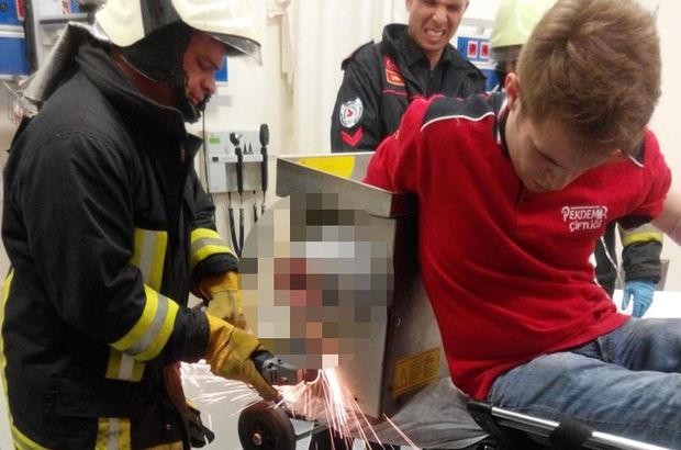 Denizli'de 21 yaşındaki genç kolunu kıyma makinesine kaptırdı!