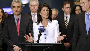 Nikki Haley: Esed ve İran barışın önünde büyük bir engel