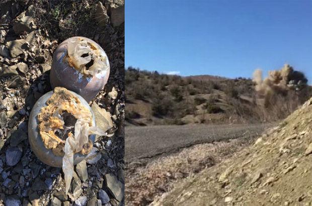 Diyarbakır - Lice yoluna döşenen patlayıcı imha edildi