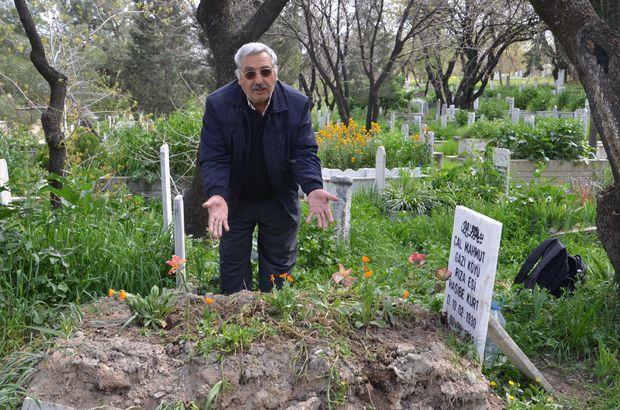 Denizli'de hırsızlar mezarın mermerlerini çaldı