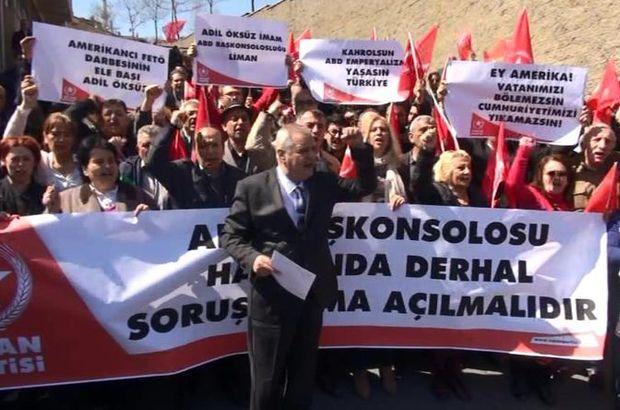 ABD'nin İstanbul Başkonsolosluğu önünde protesto