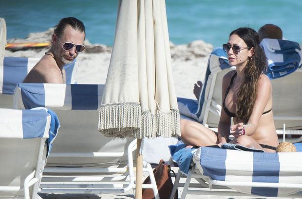 Thom York eşini çabuk unuttu!