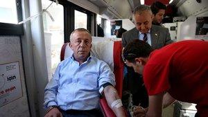 Ağaoğlu kan bağışçısı oldu