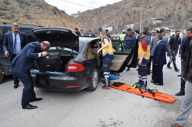 Bakan Işık'ın konvoyunda kaza: 5 yaralı