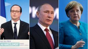 Merkel ve Hollande, Ukrayna için Putin'le görüştü