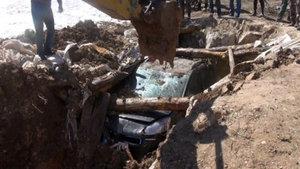 Erzurum'da PKK'nın eylem aracı toprağa gömülmüş bulundu