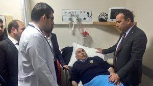Cumhurbaşkanı Başdanışmanı Topçu'nun konvoyunda kaza : 2 polis yaralı