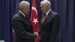 Yıldırım, ABD Başkan Yardımcısı'yla görüştü: Ağırlığınızı koyun