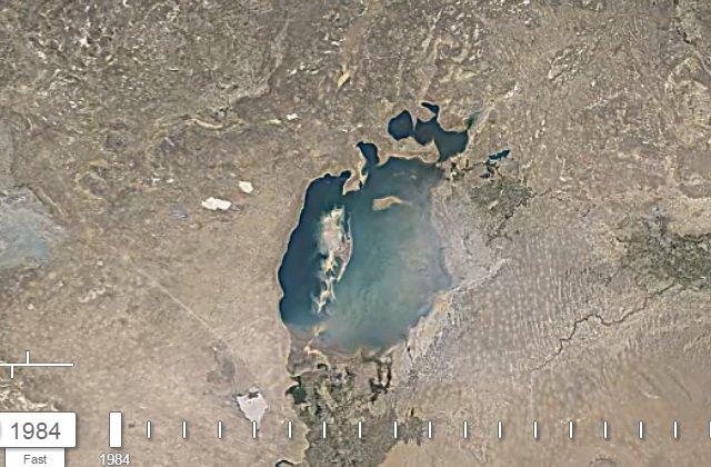 Aral Gölü adım adım yok oluyor