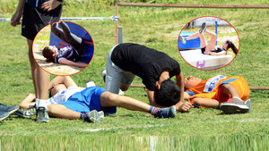 Bodrum'da atletizm yarışlarında tartışma yaratan görüntüler!