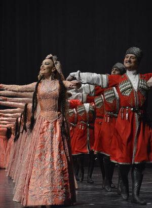 Dağıstanlı grup Lezginka, CRR'de sahne aldı