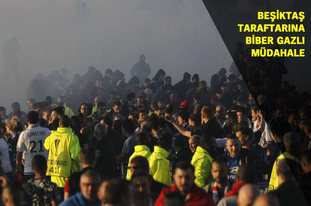 Lyon - Beşiktaş maçı öncesi kavga ve olay çıktı!