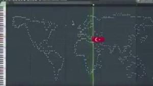 Dünya haritasının müziği sosyal medyayı salladı