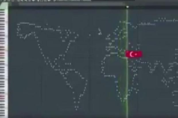 Dünya haritasının müziği sosyal medyayı salladı!