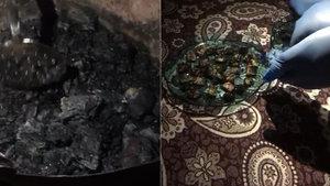 Adıyaman'da baskın yapılan evdeki yanan sobada uyuşturucu bulundu