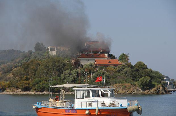 Şövalye Adası'nda milyonluk villa yandı!