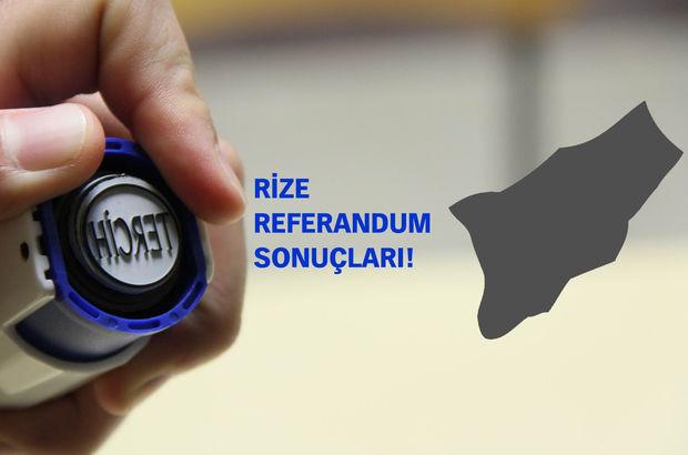 Rize Referandum sonuçları 2017 Evet Hayır oranı